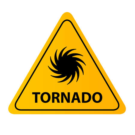 tornado sign on white background Çizim