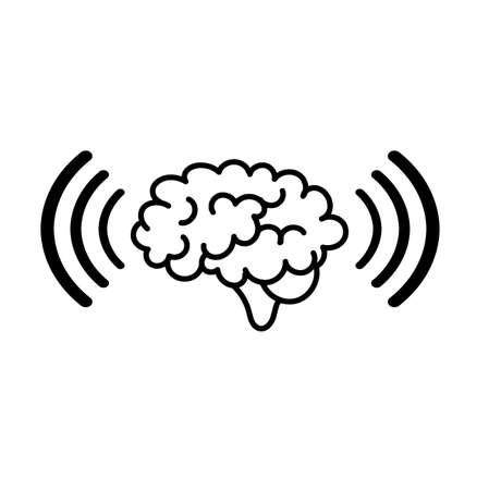 telepathy icon on white background