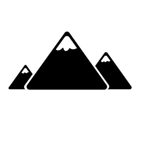 Mountain icon on white background 일러스트