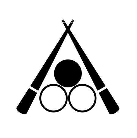 billiards icon on white background 向量圖像