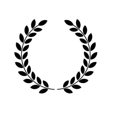 laurel wreath with wreath Ilustracje wektorowe