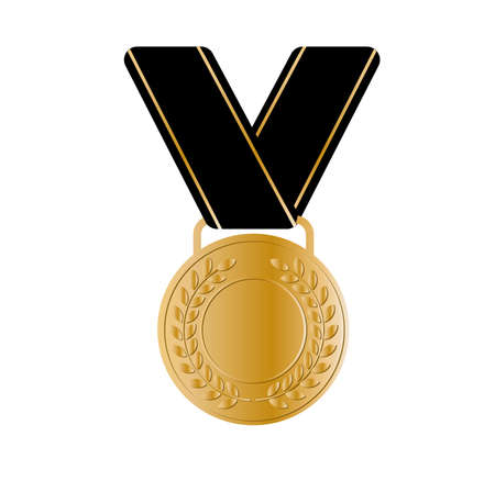 medal icon on white background