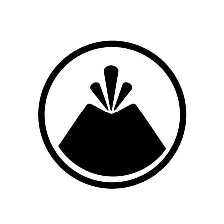 volcano sign on white background Ilustración de vector