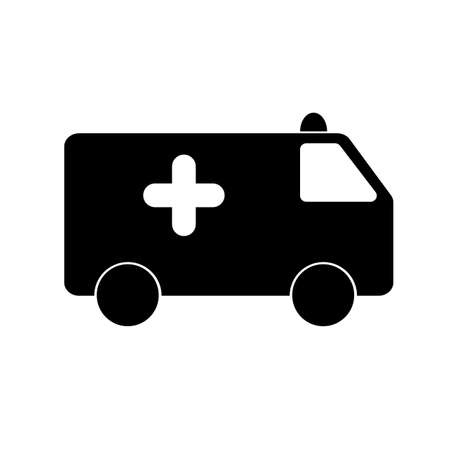 ambulance icon on white background