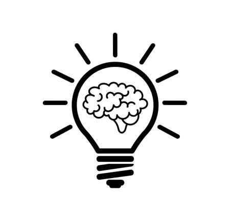 idea icon on white background Ilustracja