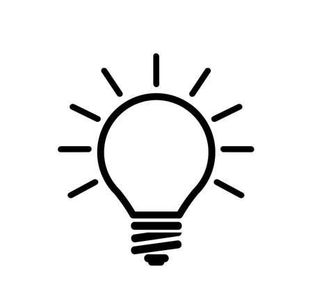 idea icon on white background