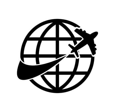 travel icon on white background