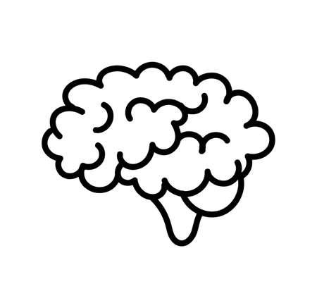 brain icon on white background Ilustracja