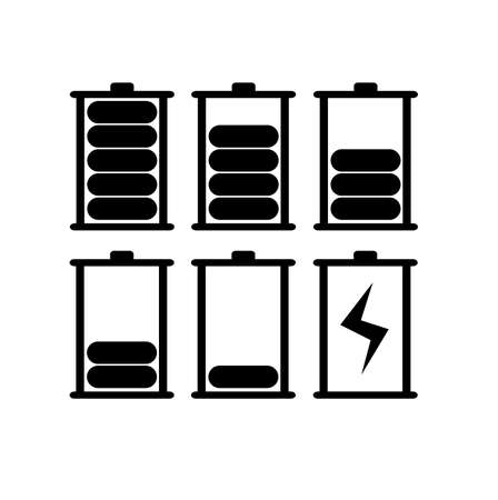 battery icon on white background 向量圖像