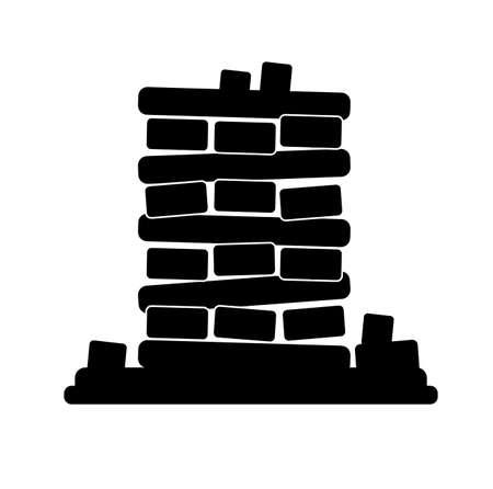 earthquake icon on white background Ilustracja