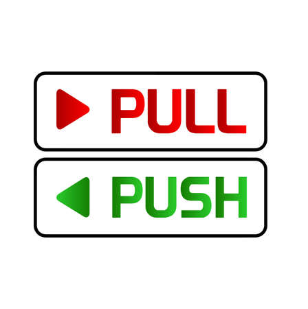 Pull and push vector sign 向量圖像