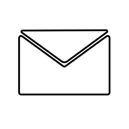 mail icon on white background