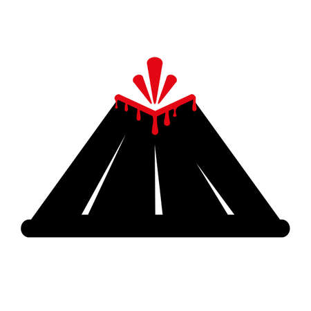volcano icon on white background 向量圖像