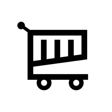shopping cart icon vector 向量圖像