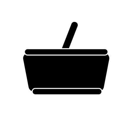 basket icon on white background