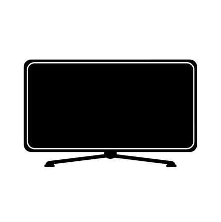 tv icon on white background Ilustrace