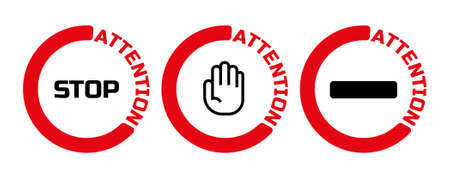 stop sign. Vector icon