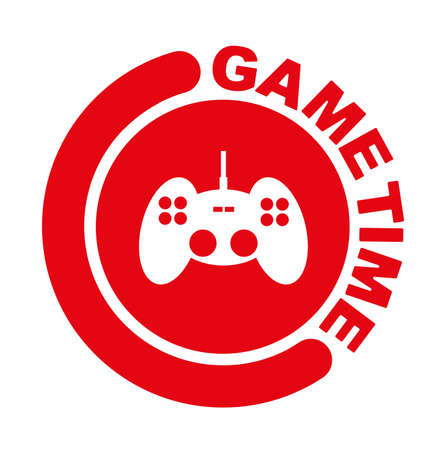 Game time with font design. 向量圖像