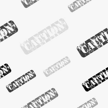seamless pattern with caution sign 向量圖像