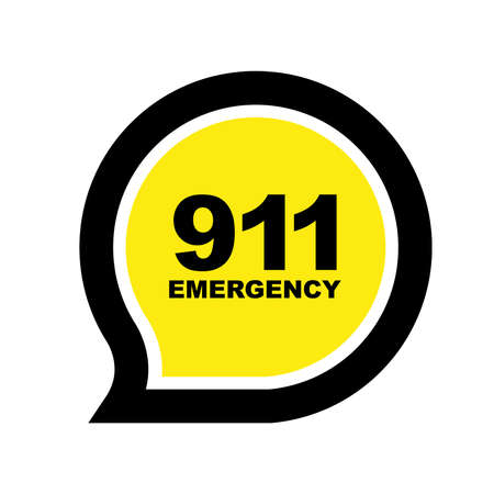 911 emergency sign vector 向量圖像