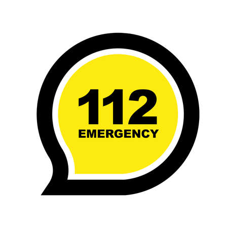 112 emergency sign vector