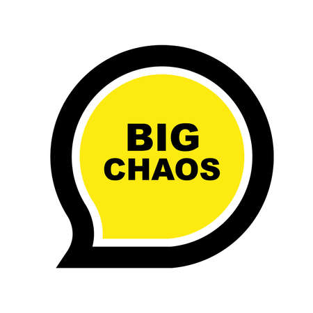 big chaos sign on white background 向量圖像