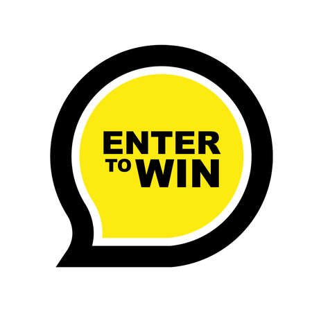 enter to win sign on white background 向量圖像