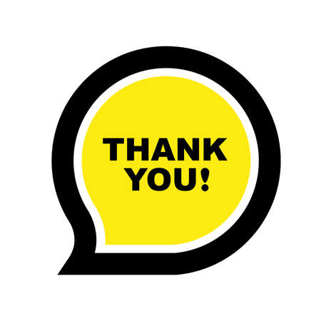 thank you sign on white background