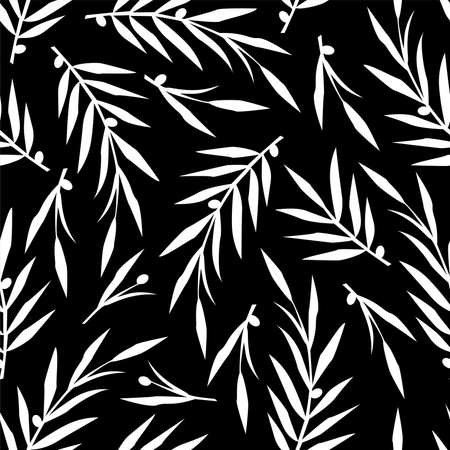 seamless pattern with plant design