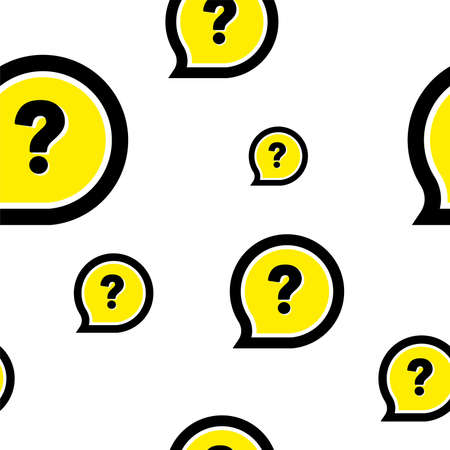 seamless pattern with question mark sign