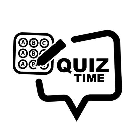 Quiz time with creative font design.