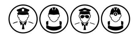 work man icon on white background 版權商用圖片 - 158706710