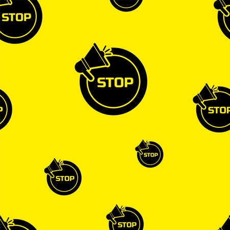 seamless pattern with stop sign