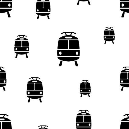 seamless pattern with train icon