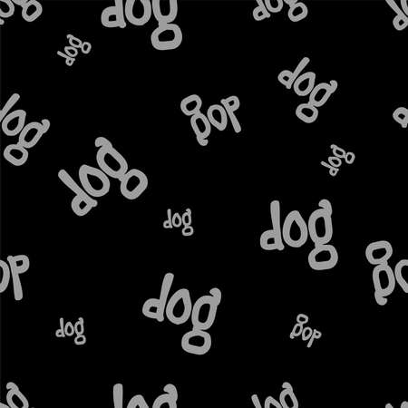 seamless pattern with dog text