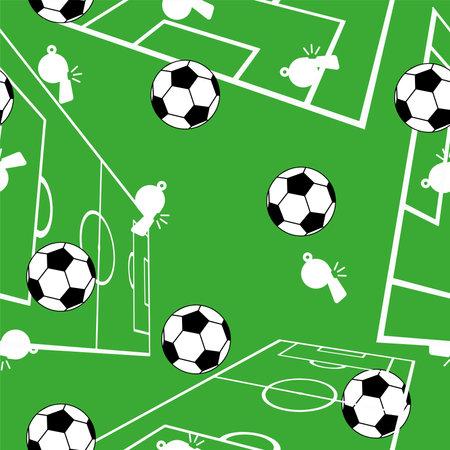Cute seamless pattern with soccer balls. 版權商用圖片 - 161336511