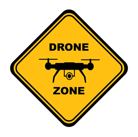 drone zone sign on white background