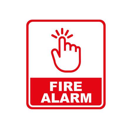 fire alarm sign on white background 版權商用圖片 - 161185843