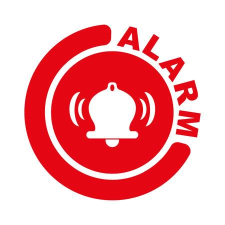 fire alarm sign on white background 版權商用圖片 - 161185847