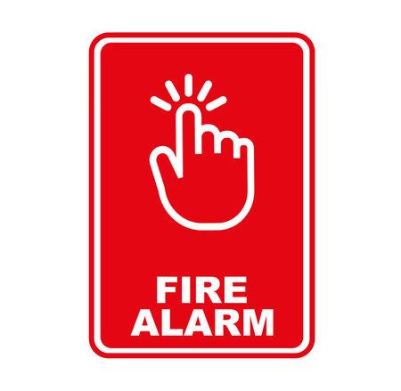 fire alarm sign on white background 版權商用圖片 - 161185849