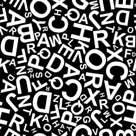 letters on black background with seamless pattern. 版權商用圖片 - 161185852