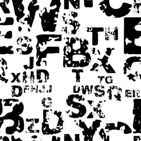 letters on black background with seamless pattern. 版權商用圖片 - 161185856