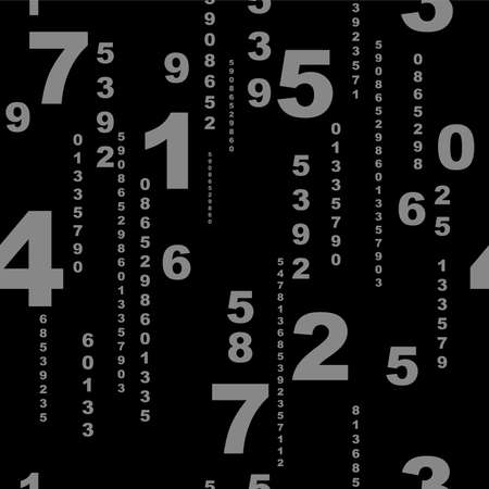numbers on white background with seamless pattern.