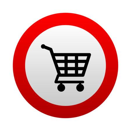 shopping cart sign. Vector icon. 版權商用圖片 - 161520768