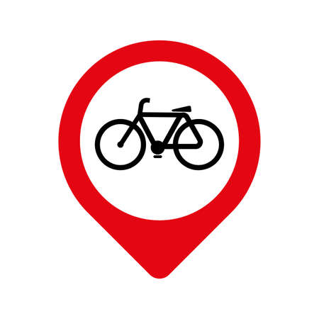 bicycle road only sign on white background 版權商用圖片 - 161520774