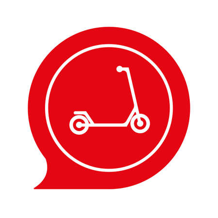 scooter sign on white background