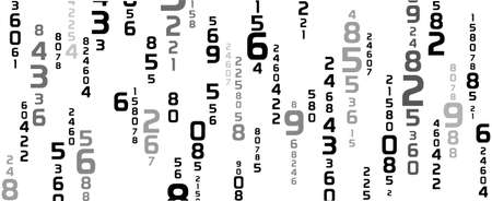 Creative and modern background with numbers. 版權商用圖片 - 161520780