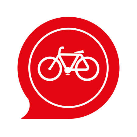bicycle road only sign on white backround