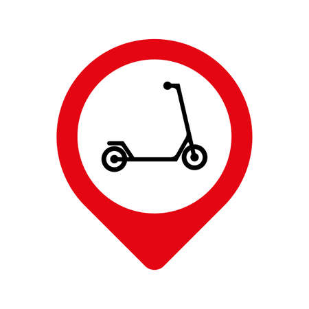 scooter sign on white background 版權商用圖片 - 161520785