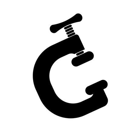 clamp icon on white background Ilustración de vector